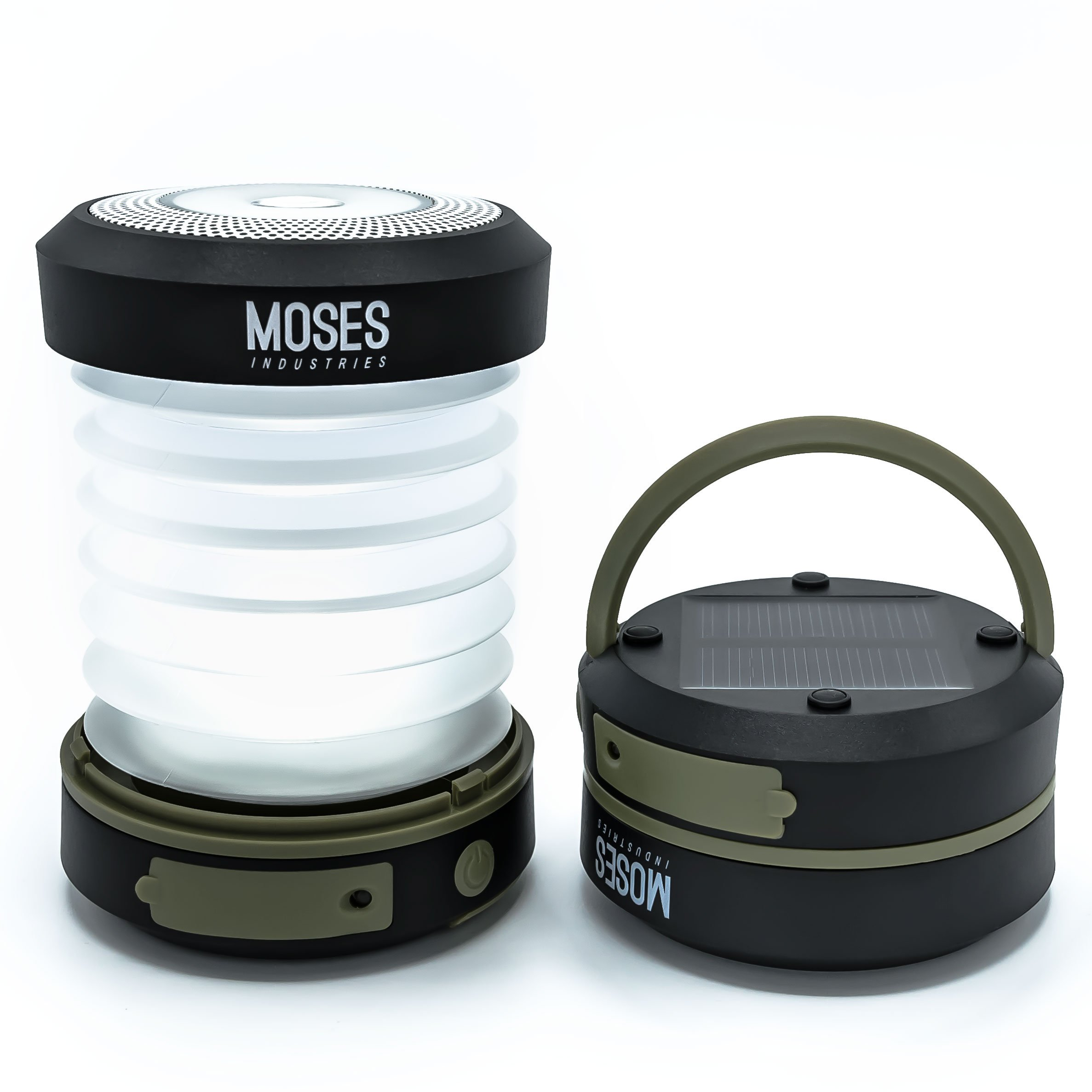 Solar Powered LED Camping Lantern: Rechargeable via Solar Panel or USB Cord - Emergency Power Bank and Flashlight - Best for Travel and Outdoor Adventures