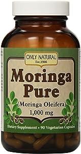 Only Natural Moringa Pure - 1000 mg - 90 Vegetarian Capsules