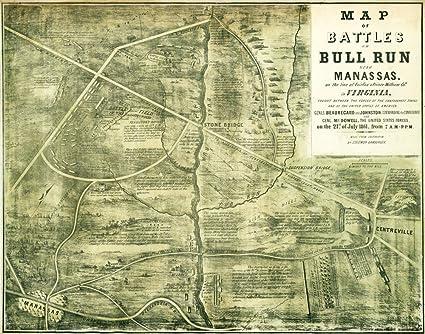 Amazon.com: First Battle of Bull Run - Civil War Panoramic ... on