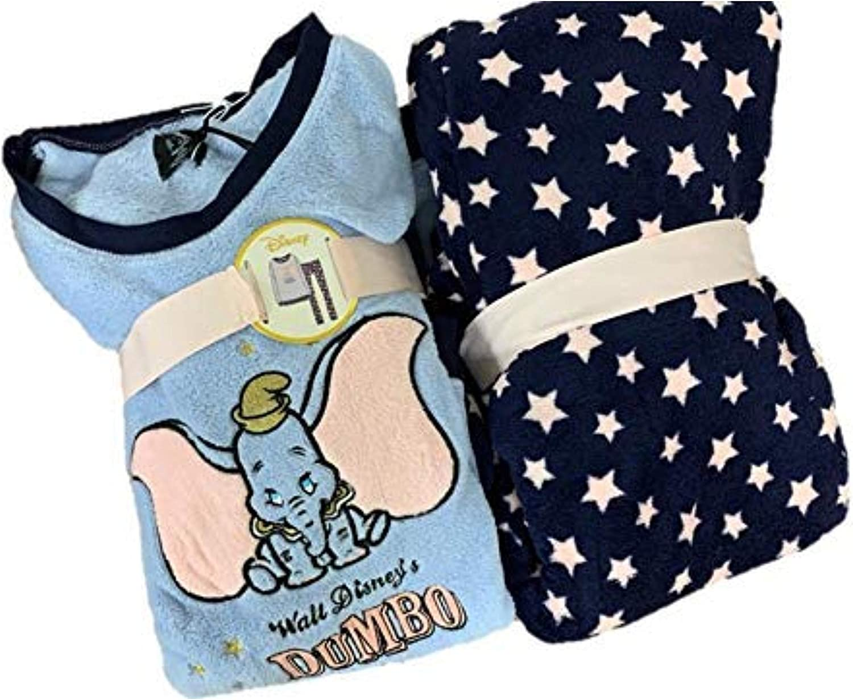 Official Disney Dumbo Mesdames Femmes Polaire Pyjama hiver Pyjama 6-20 Primark BNWT