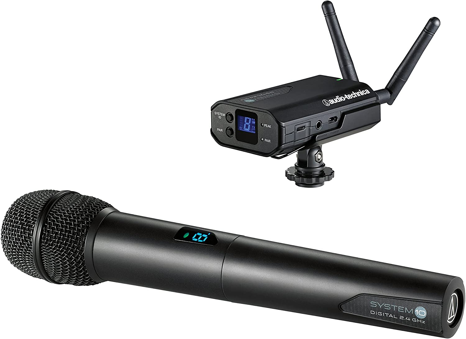 Audio-Technica System 10 ATW-1702 Portable Camera-Mount Wireless Microphone System