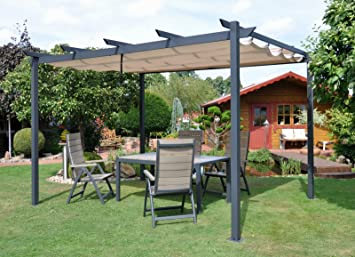 Pergola Pavillon Windschutz LECO Sonnenschutz Garten Terrasse 3 x 4 ...