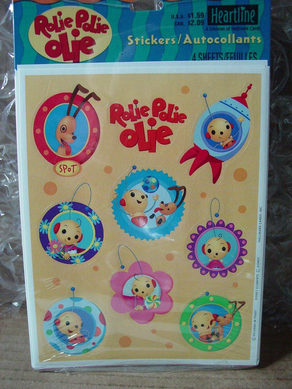 amazon com rolie polie olie stickers 4 sheets by hallmark toys