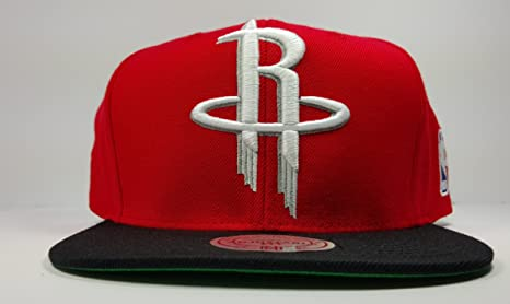 278de784f6e76 Image Unavailable. Image not available for. Color  Mitchell   Ness Houston  Rockets Red Solid XL Logo Two Tone Snapback Hat NBA