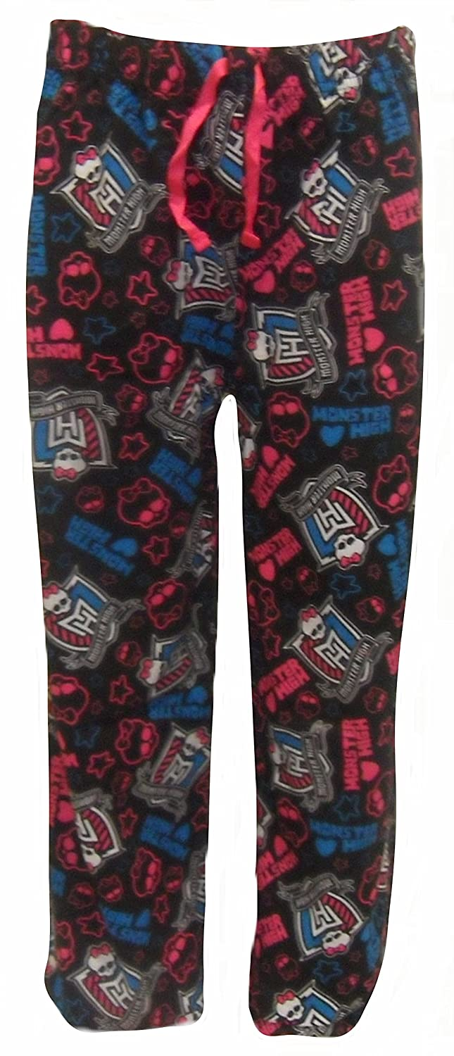 Monster High Girl's Black Lounge Pants Age 11-12 Years GLP02_BLK_11-12
