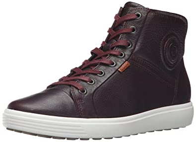 Great Womens Ecco Soft 7 High Top Bordeaux Online Store