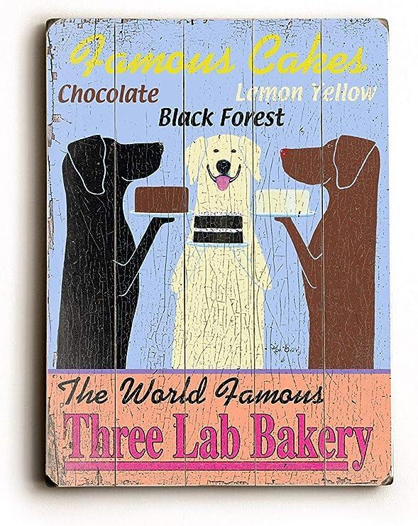 Amazon.com: El mundo famoso Tres Lab Panadería por artista ...