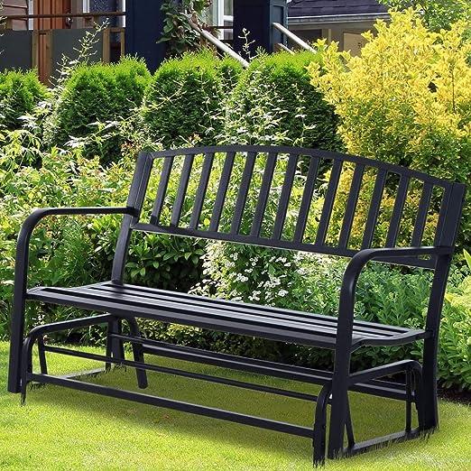 Outdoor Glider Garden Bench, 50