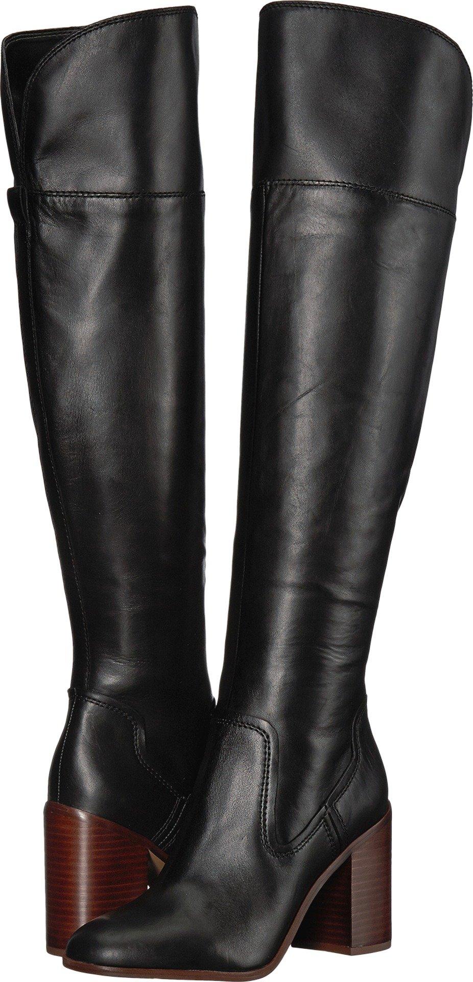 Franco Sarto Women's Freda Black Bally Leather 7 M US