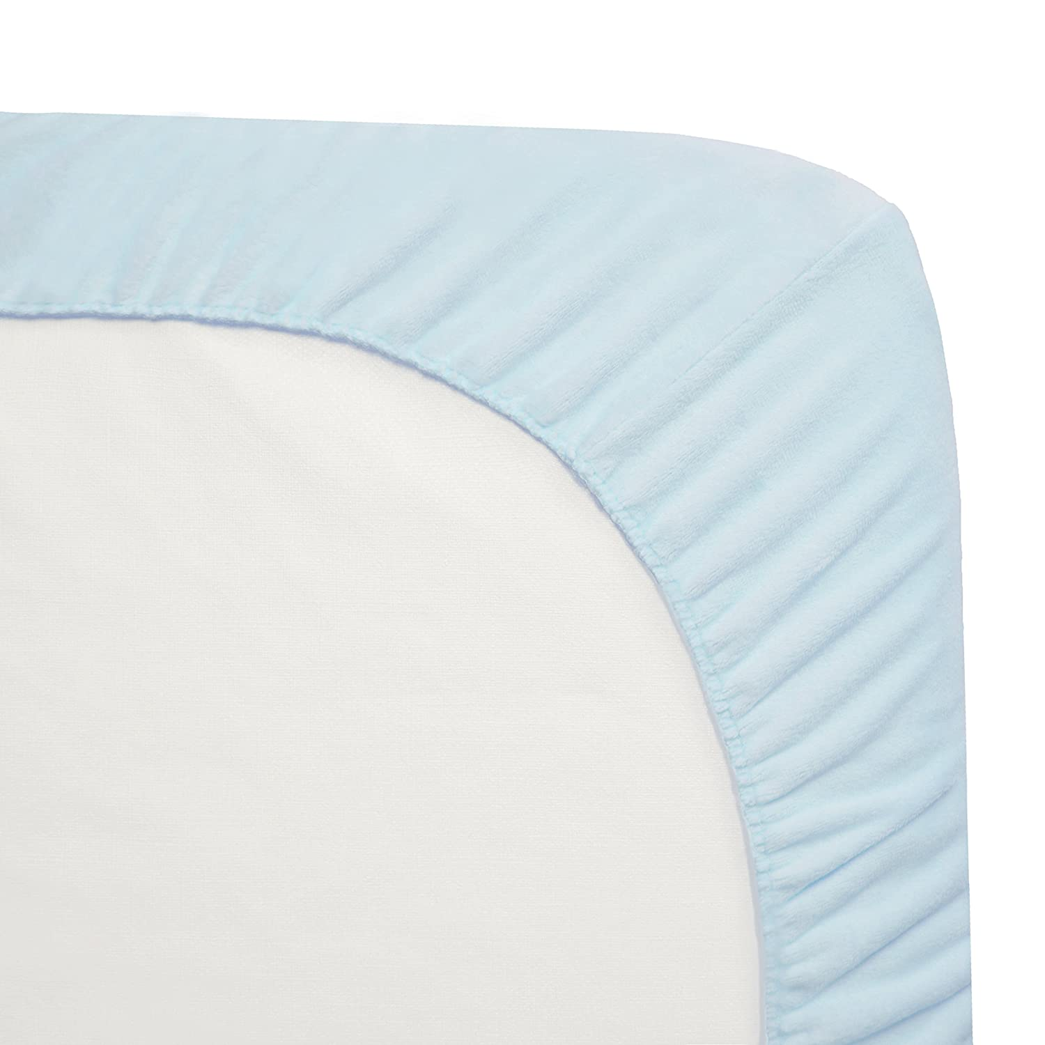 for Boys and Girls American Baby Company Fitted Portable//Mini-Crib Sheet,Heavenly Soft Chenille,White