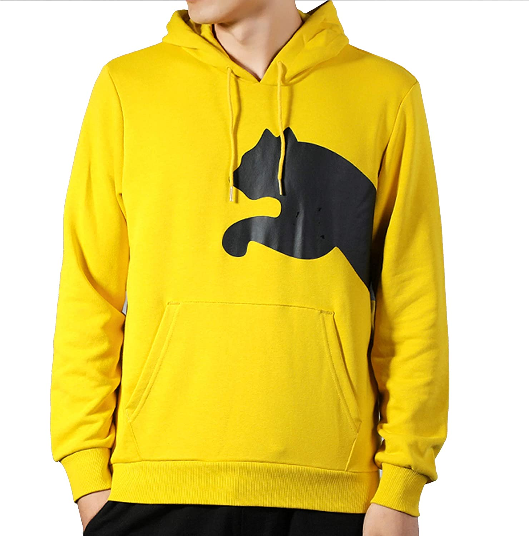 PUMA Mens Essential Hoodie Fleece Big Logo Sweatshirt
