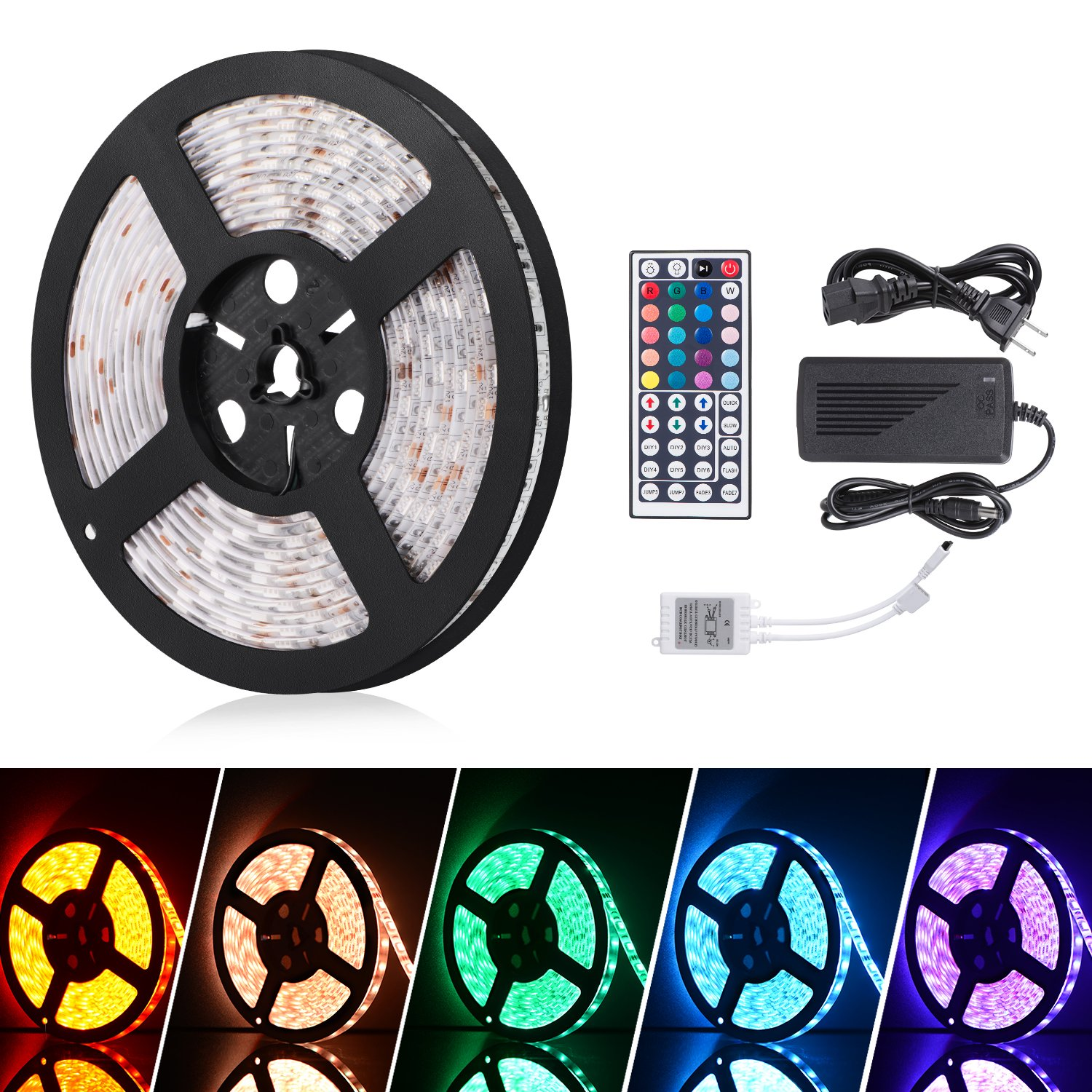 iHomy 16.4ft LED Flexible Light Strip, RGB 300
