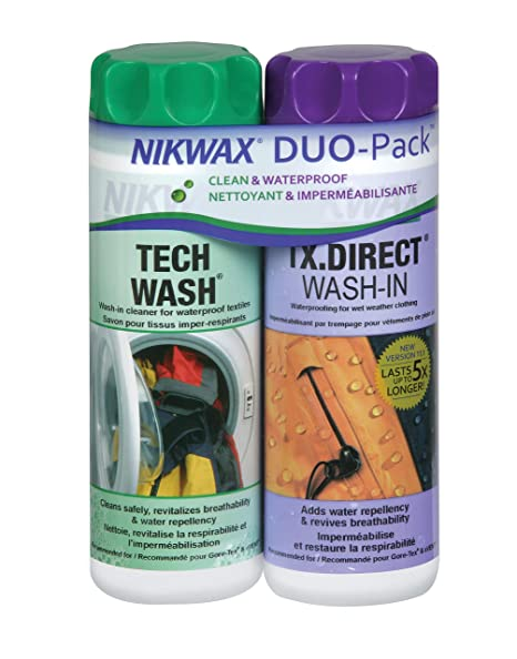 f9332d1fa94 Amazon.com: Nikwax Hardshell Cleaning & Waterproofing DUO-Pack ...