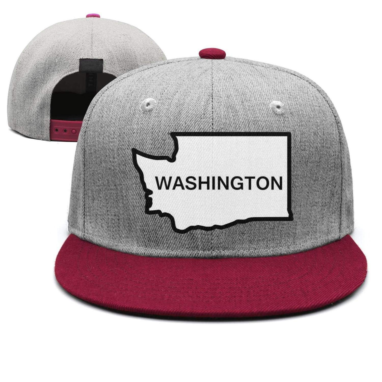 Cotton Casual Trucker hat Adjustable Fits Mesh Baseball Caps for Man and Woman smsdpmc Washington-Funny-State