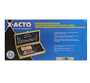 X-ACTO Hobbytool Set, Deluxe 30 Piece Set, Great for Arts and Crafts, including Pumpkin Carving (Color: Silver)