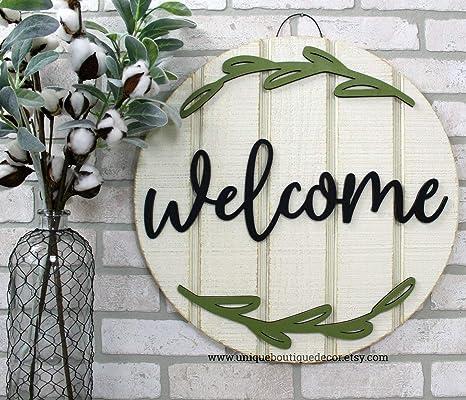 Amazon.com: MarthaFox - Señal de bienvenida para puerta ...