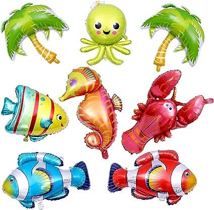 Amazon.com: Chuangdi 9 piezas de globos de animales del ...