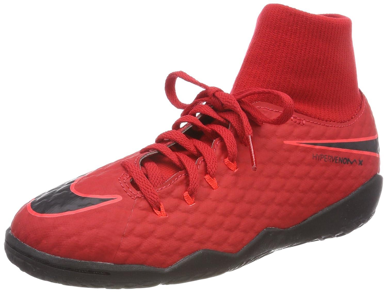 Nike Unisex-Kinder Jr Hypervenomx Phelon 3 Df Ic Fuszlig;ballschuhe  355 EU|Rot (University Red/Bright Crimson/Black 616)