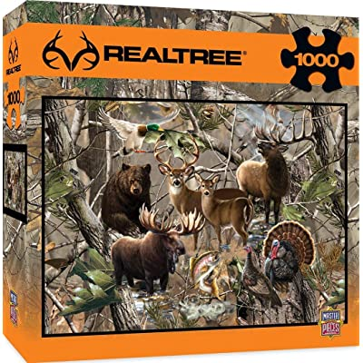 MasterPieces REALTREE Open Season - Wild Game Animals 1000 Piece Jigsaw Puzzle by Dona Gelsinger: Toys & Games