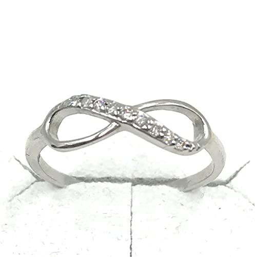 taille 40 design élégant modèle unique Anello infinity Infinito Oro Bianco 375 9 K diamanti anello ...