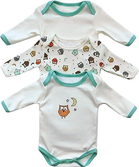 Body para bebé Slumbersac de manga larga Búho, Pack de 3 Talla ...