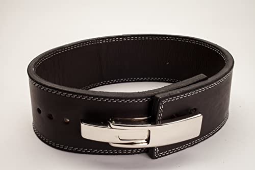 LiftingLarge Polished Leather 13mm Powerlifting Lever Belt IPF Approved