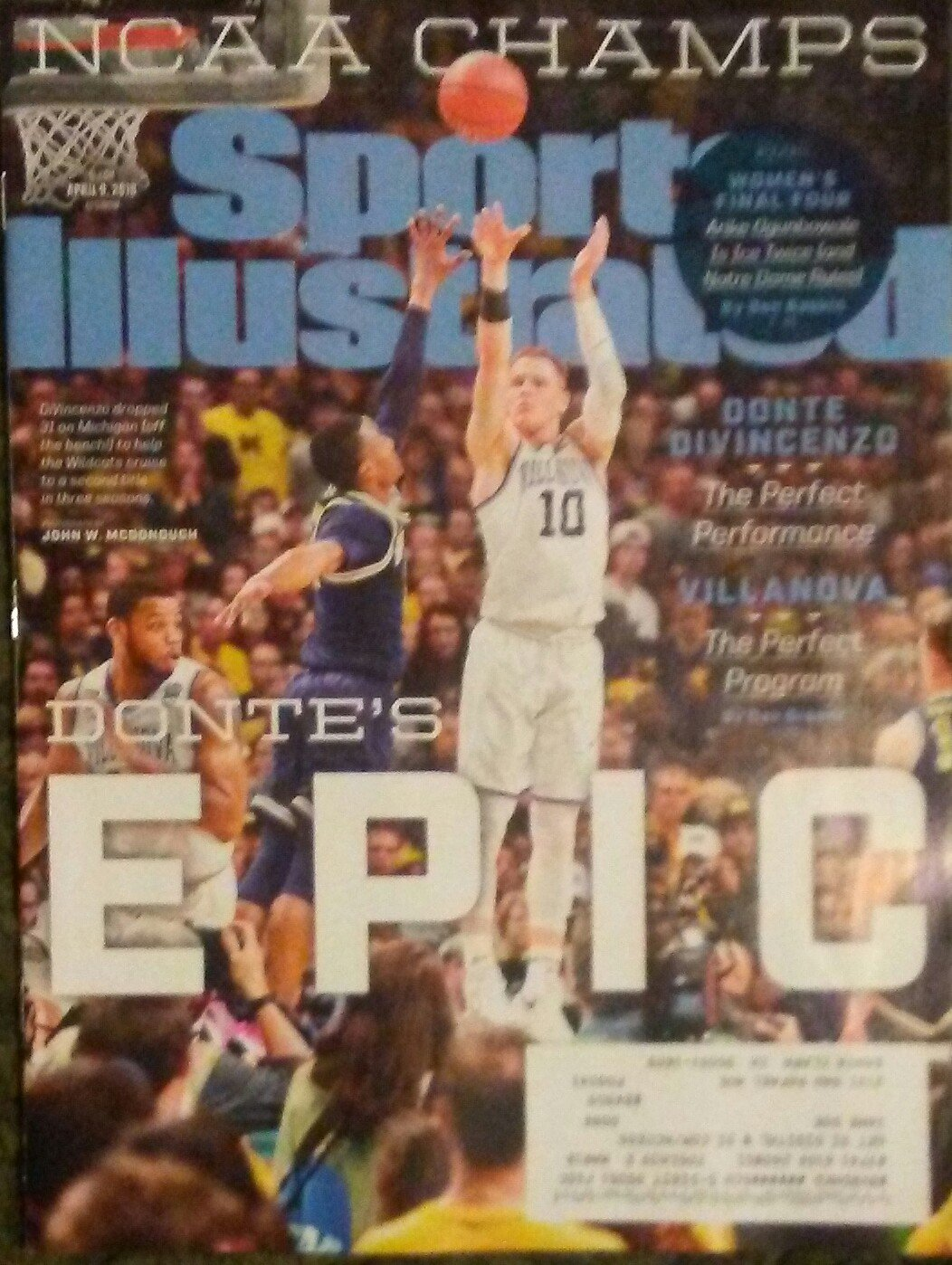 Read Online Sports Illustrated Magazine (April 9, 2018) Donte Divincenzo ebook