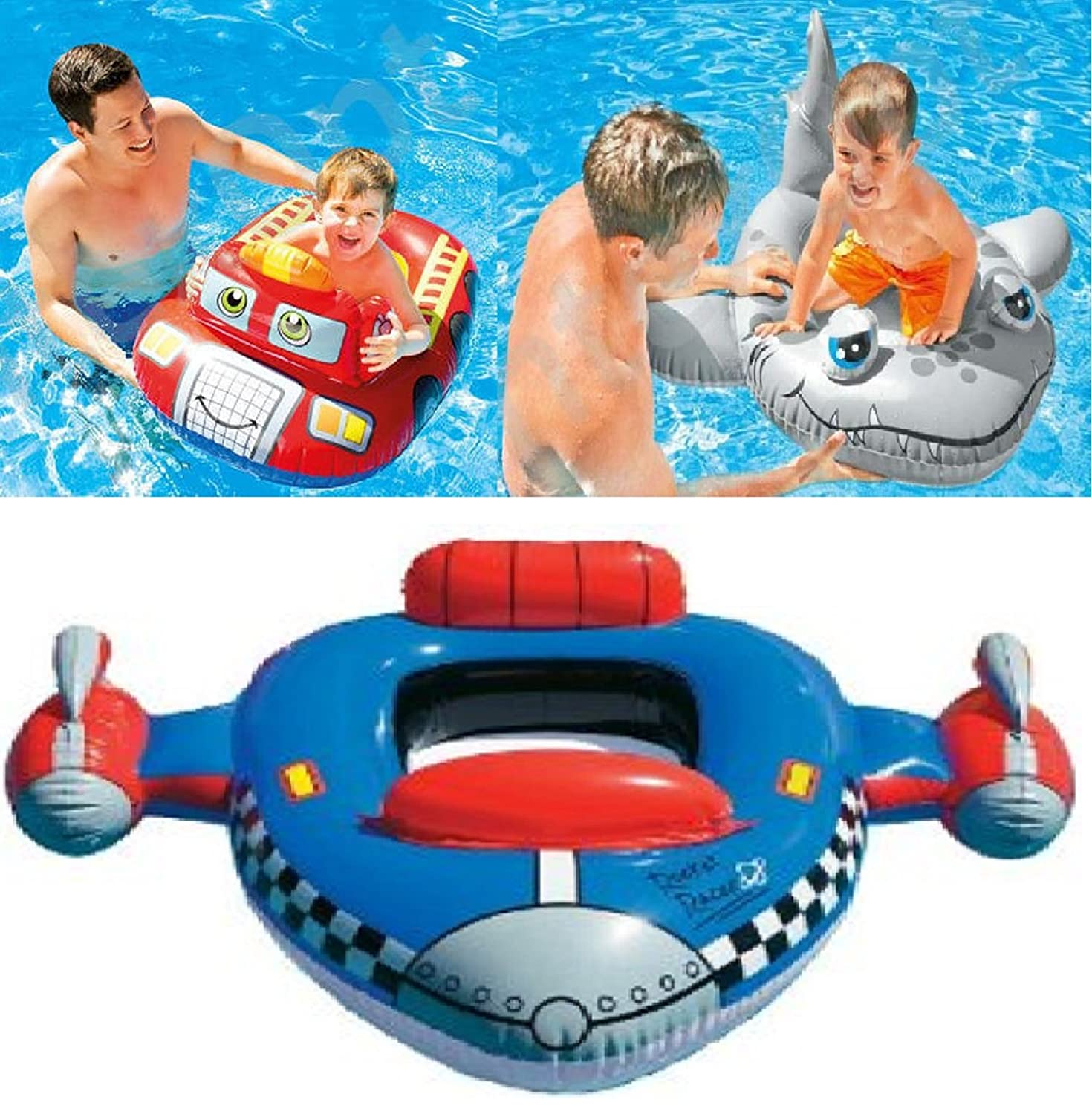 Product details of new inflatable floating swim ring kids children toy - Kids Children S Baby Inflatable Pool Cruisers Dinghy Float Boat Swimming Beach Pool Toy Amazon Co Uk Kitchen Home