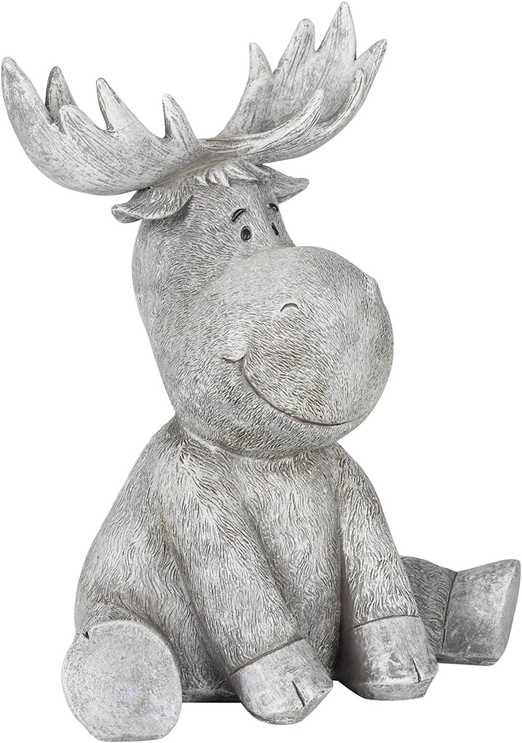 Roman Garden Moose Statue 9 5 H Pudgy Pals Collection Resin And Dolomite Decorative Garden Gift Home Outdoor Decor Durable Long Lasting Kitchen Dining