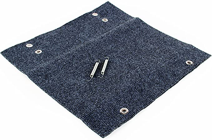 Camco 42912 RV Step Rug 22 x 23 Premium Wrap Around , 100/% Polyester - Gray