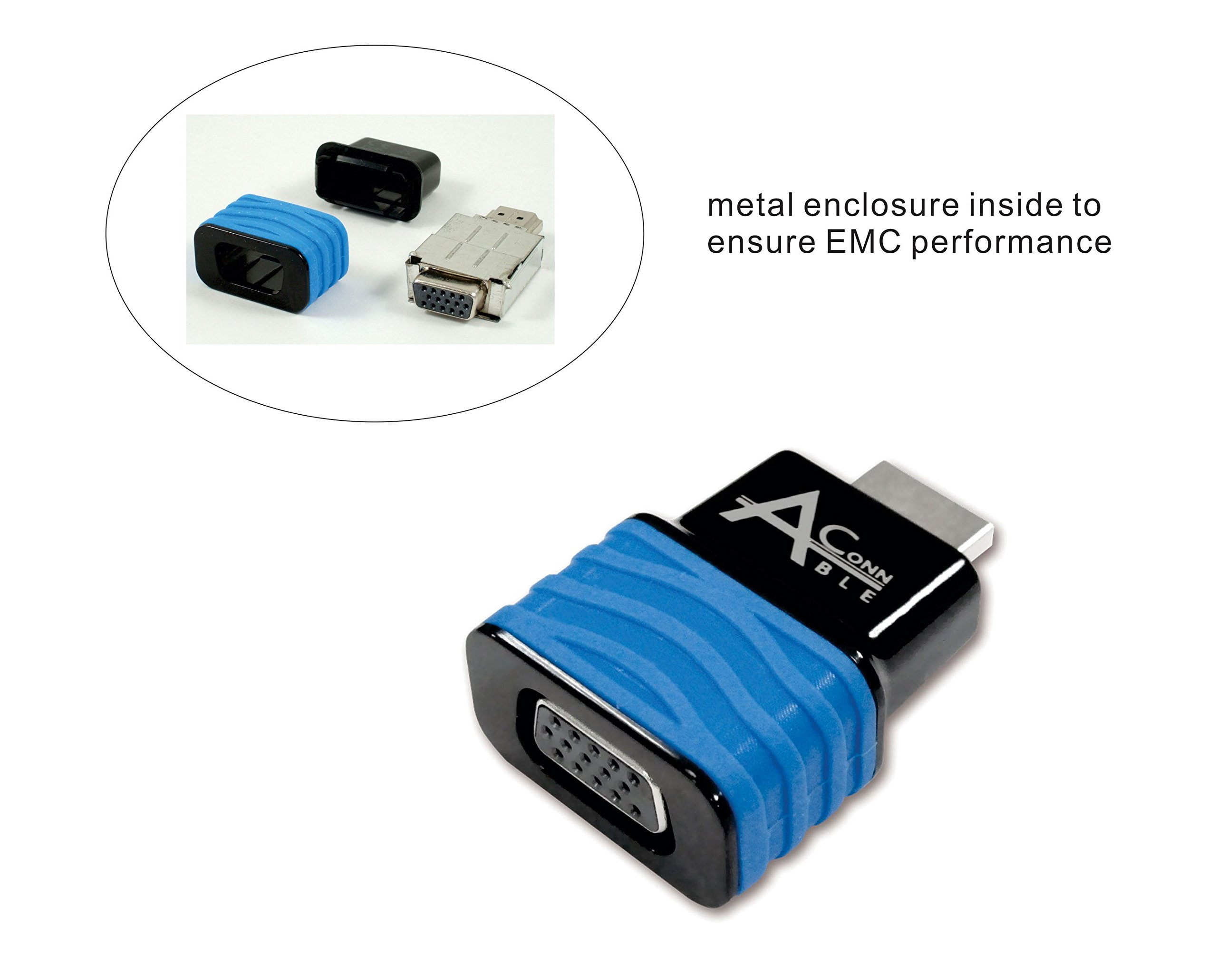 Ableconn HDMI2VGAD HDMI to VGA Adapter Converter Dongle for Desktop PC/Notebook up to 1920x1200 / 1920x1080 - HDMI to VGA HD15 monitor by Ableconn (Image #2)