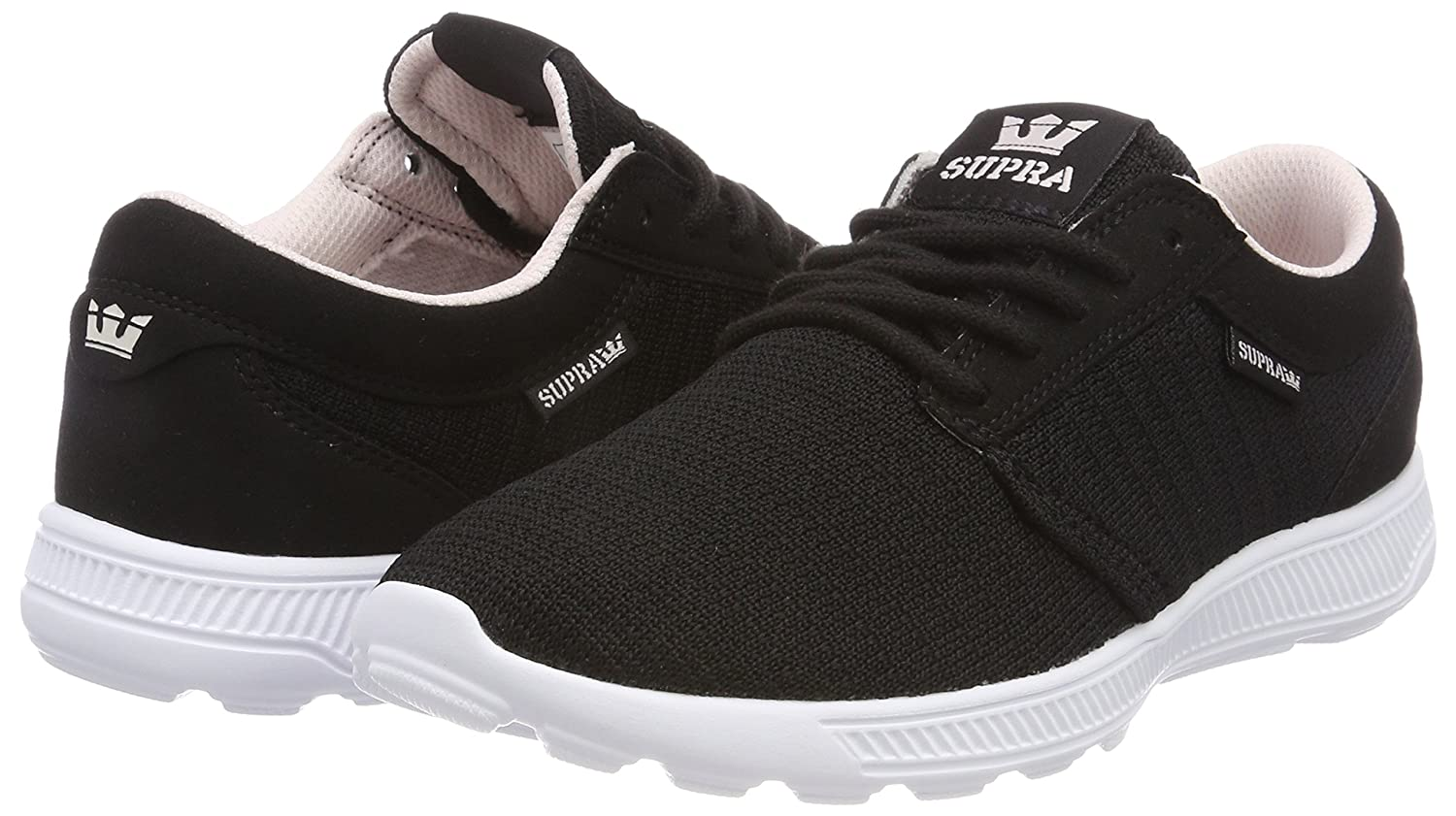 Supra Men's Hammer Run Skate Shoe B074KK9ZXK 8.5 M US|Black/Pink-white