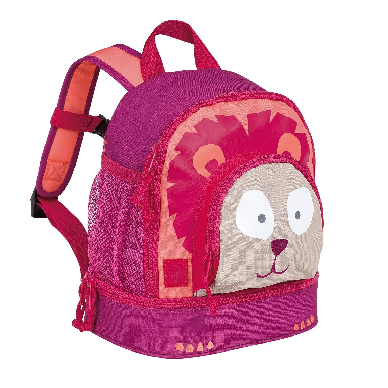 Lässig Mini Backpack Kindergartenrucksack mit Brustgurt Kindergartentasche Kita, Wildlife Elefant, Pink 1203001786
