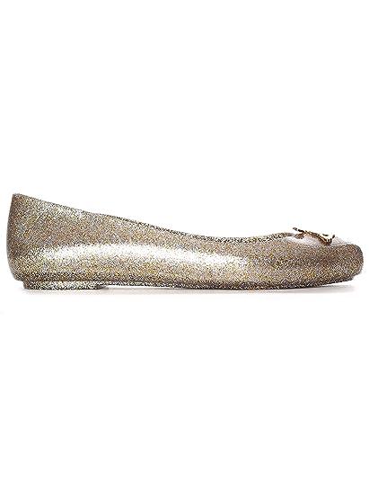 139f103d4e2 Amazon.com | Melissa X Vivienne Westwood Women's Space Love 21 Orb Slip On  Flat Gold Glitter | Flats