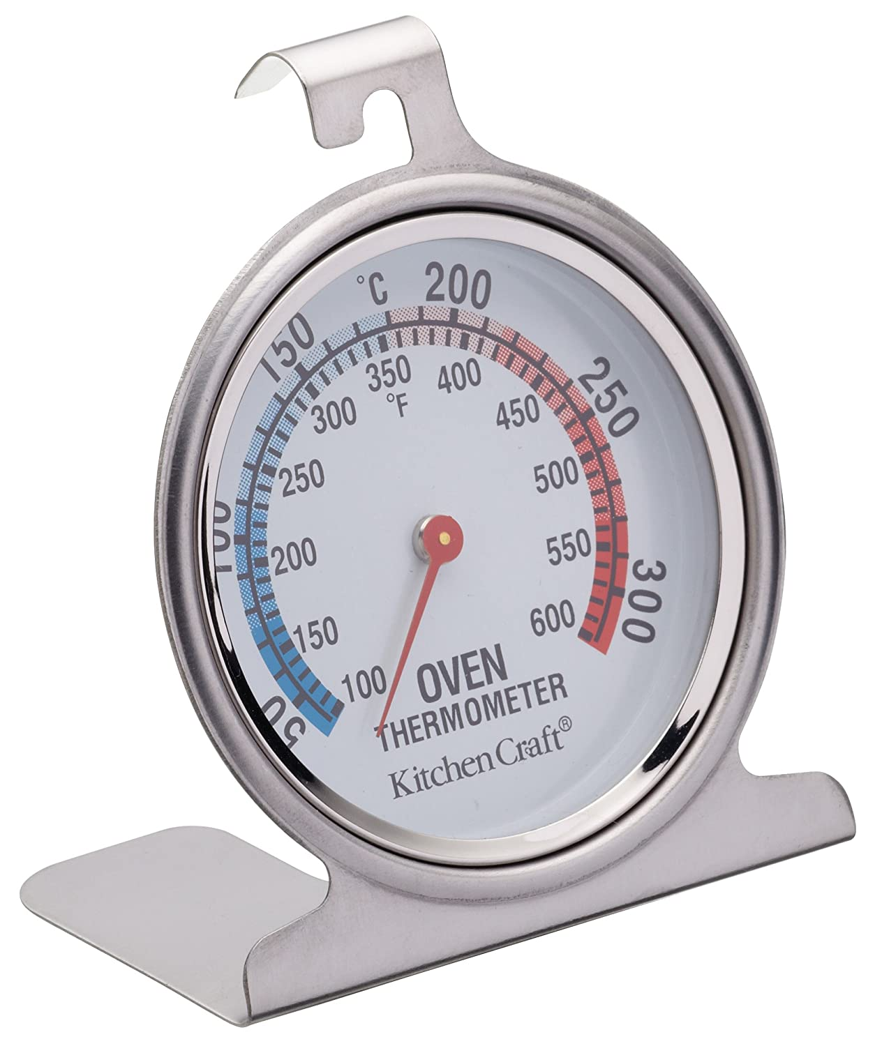 Classic Stainless Steel Oven Thermometer Measures Temperature Inside The Oven by Kitchen Craft KCOVENTH