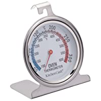 "KitchenCraft Stainless Steel Oven Thermometer, 6.5 x 8 cm (2.5"" x 3"")"