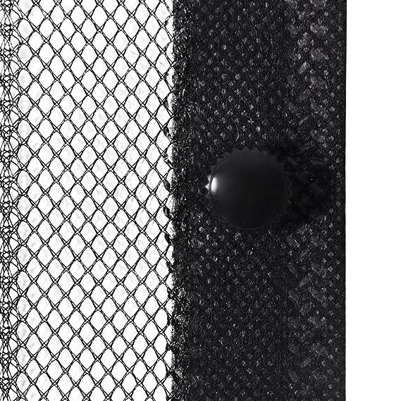 2x Insektenschutz Türvorhang Fliegennetz Mückenschutz Magnetblöck Fliegengitter