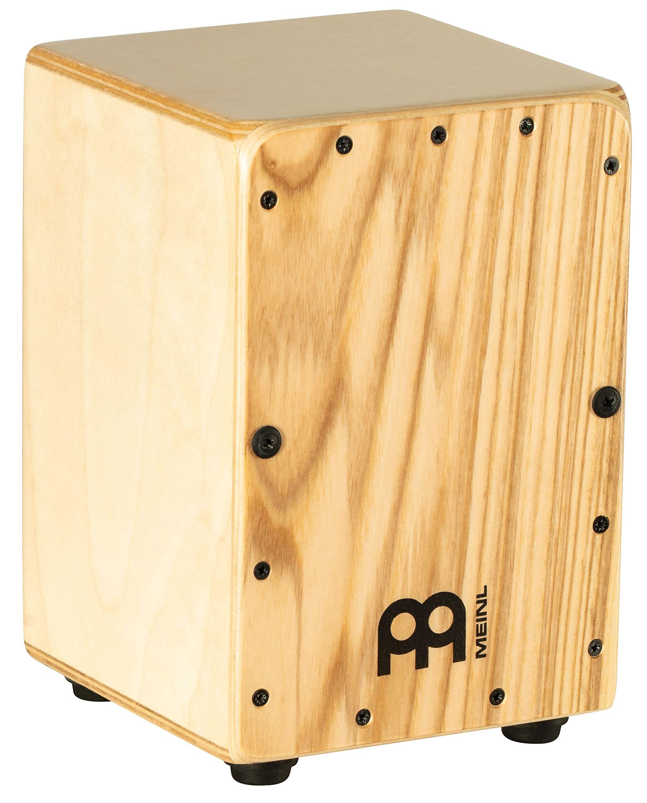 Meinl Mini Cajon Box Drum with Internal Snares - MADE IN EUROPE - Heart Ash Frontplate / Baltic Birch Body, Miniature Size,  2-YEAR WARRANTY (MC1HA)