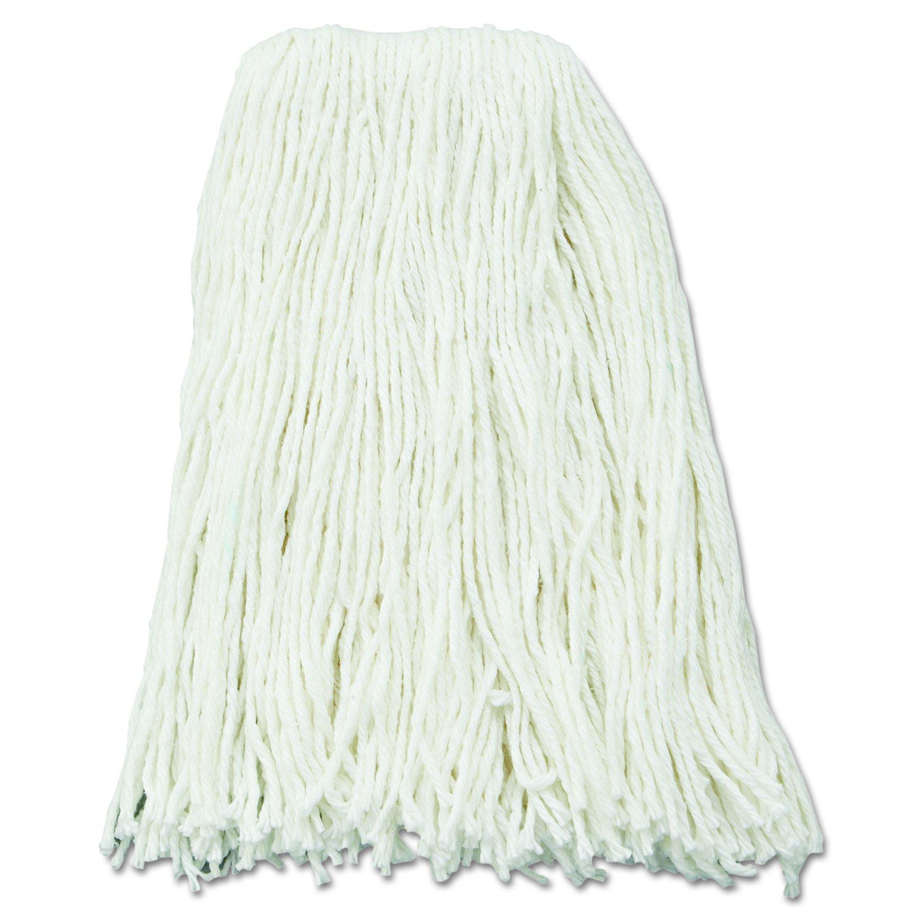 UNISAN Premium Cut-End Wet Mop Heads, Rayon, 16-Ounces, White, 12/Carton (216RCT)