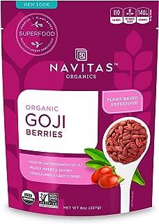 product image for Navitas Organics Goji Berries, 8 oz. Bag, 8 Servings — Organic, Non-GMO, Sun-Dried, Sulfite-Free