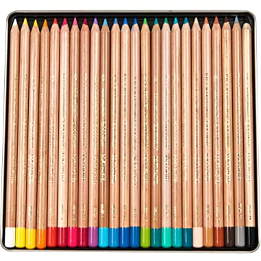 Koh-I-Noor Gioconda Soft Pastel Pencil Set, 24/Each Packed in Tin, Assorted Colored Pencils (FA8828.24)