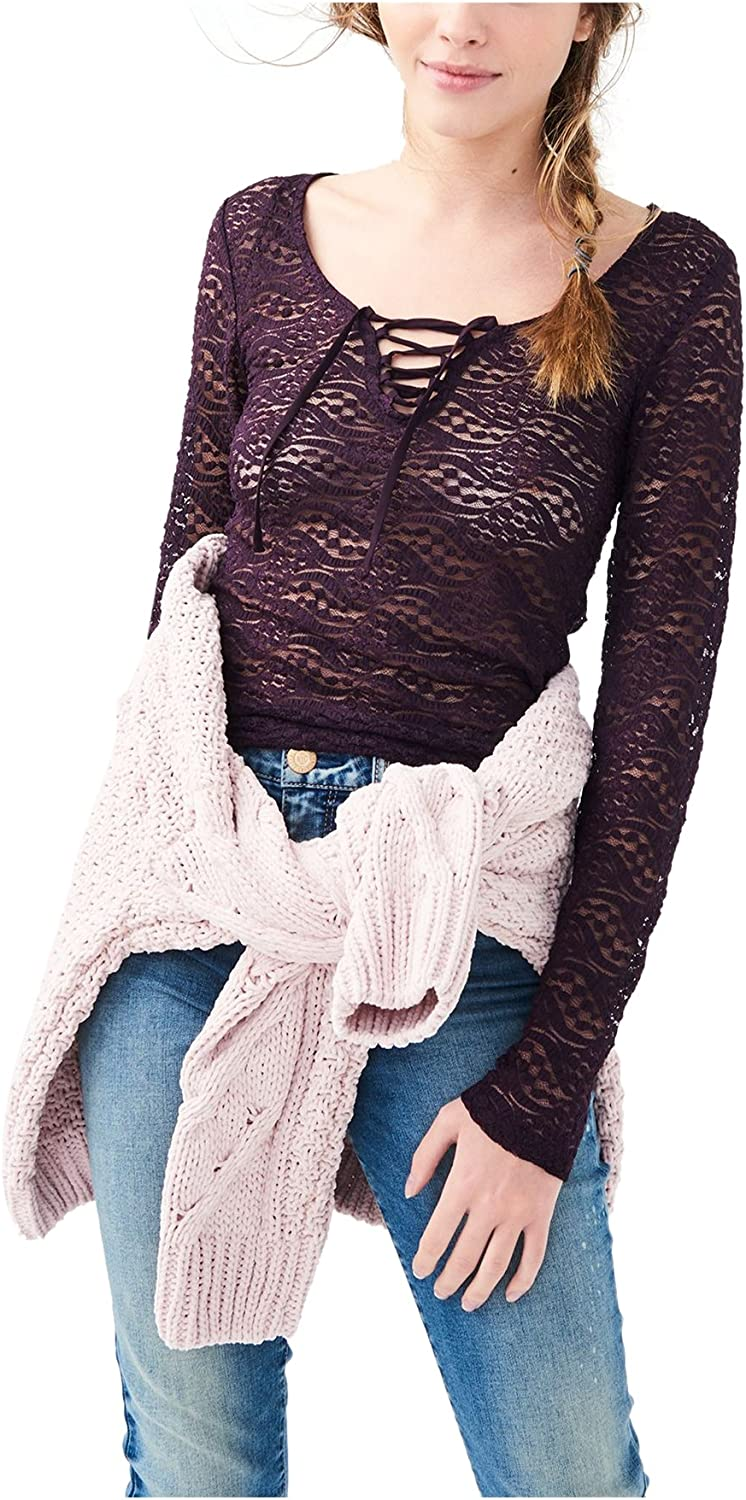 AEROPOSTALE Womens Lace Pullover Blouse
