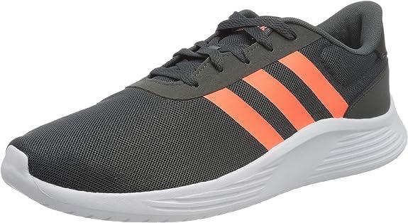 adidas Lite Racer 2.0, Zapatillas para Correr para Hombre, Grey Six/Signal Coral/Core Black, 44 EU: Amazon.es: Zapatos y complementos