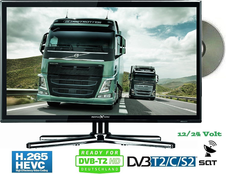 Reflexion 12 V de 24volt LED TV Televisor 18,5zoll 47 cm DVB-S2/C/T2 HD H.265 CI + TV sintonizador triple Reproductor de DVD 12 – 24 V: Amazon.es: Electrónica