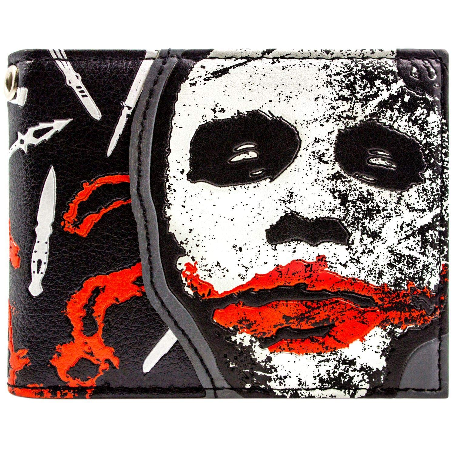 Cartera de DC Dark Knight Joker por qué Tan Serio Negro 28105