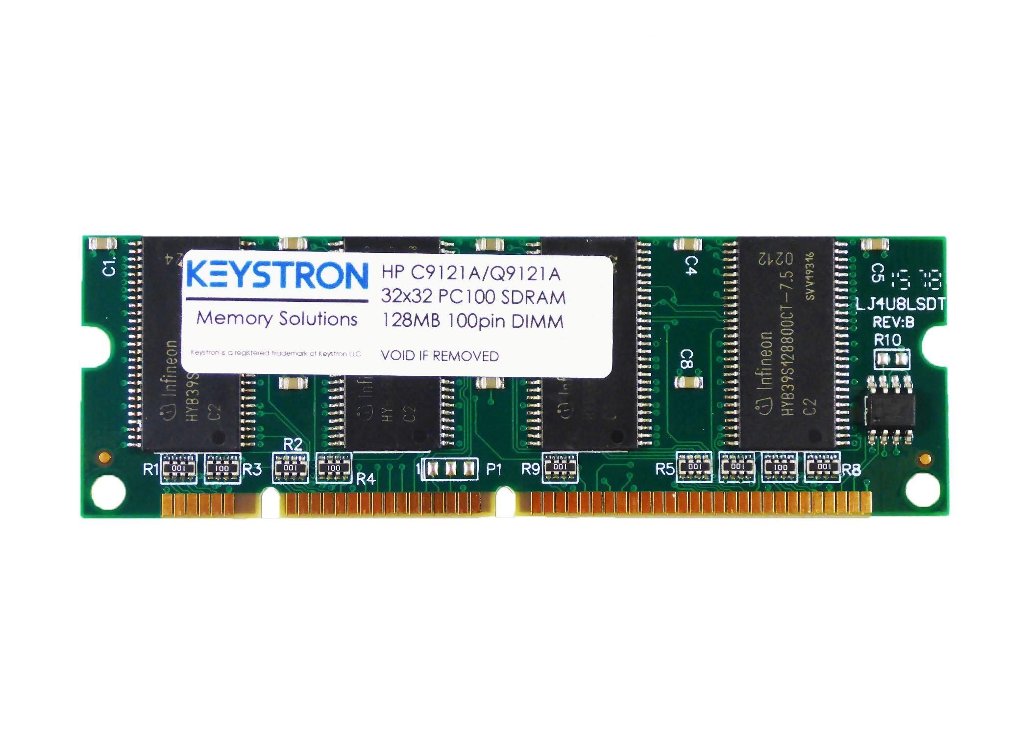 128MB HP LaserJet Printer 100-pin Memory for HP LaserJet 1320 2300 2505 2550 2605 2700 2820 2840 3390 3392 4100 4200 4300 5100 8150 9000 (p/n C9121A, Q9121A, Q7709A) by Keystron