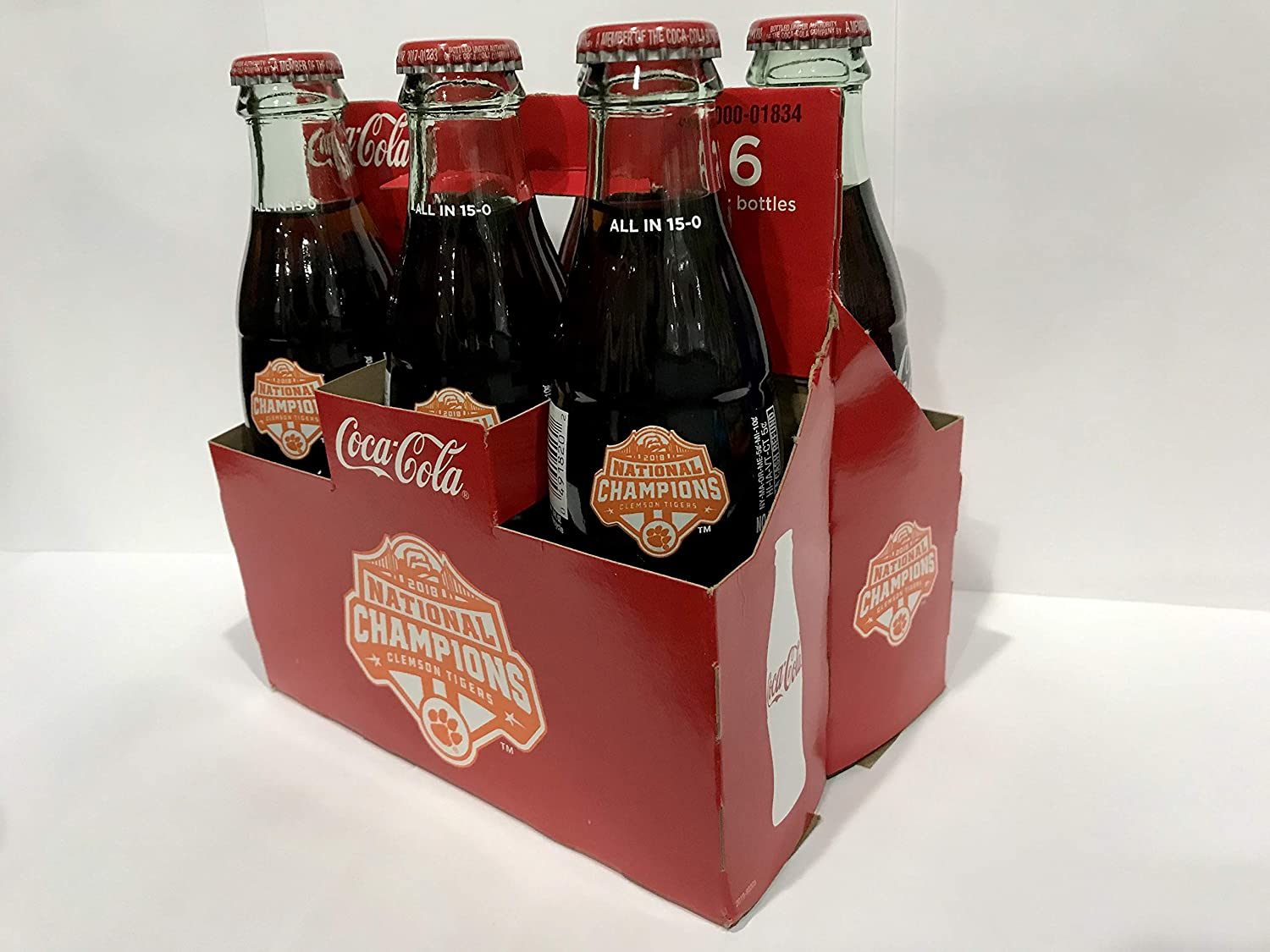 2018 Clemson Tigers National Championship Coca Cola Bottle All In 15-0 NEW 1