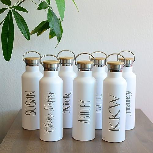 amazon com personalized insulated water bottle 25oz 750ml premium