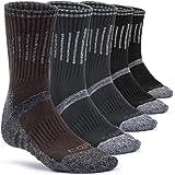 CQR Tesla Men's Outdoor Sports Mid-Calf Hiking Socks (3 Pairs/5 Pairs) TZS