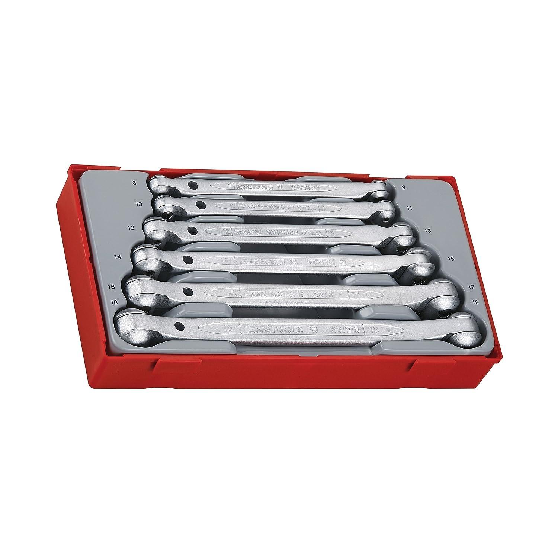 Teng TT6506 Metric Double Flex Wrenches (6 Pieces) TENTT6506